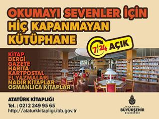 """Atatürk Kitaplığı """"7 Gün 24 Saat"""" hizmet verecek"""