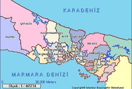 istanbul harita8, istanbul haritası